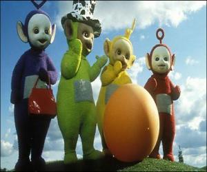 The Teletubbies: Laa-Laa, Tinky Winky, Po and Dipsy puzzle