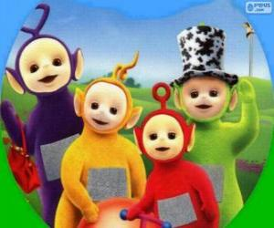 The Teletubbies: Tinky Winky, Laa-Laa, Po and Dipsy puzzle