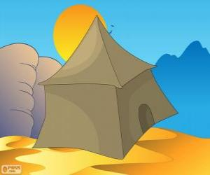 The tent of the bedouins in the desert, Khayma puzzle