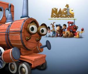 The Train, one of the magical toys in the movie Dougal, the Magic Roundabout puzzle