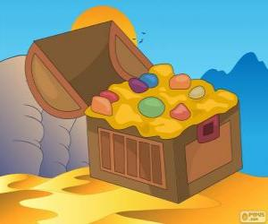 The treasure chest of Aladdin puzzle