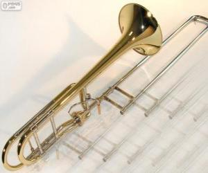 The trombone is a brass horn musical instrument puzzle