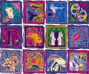 The twelve signs of the zodiac puzzle