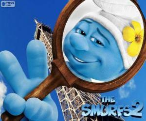 The Vanity Smurf, one of the smurfs in the Paris's adventures puzzle