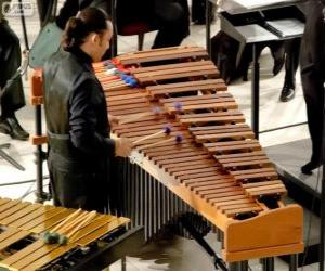 The vibraphone, vibraharp or vibes is a musical instrument in the struck idiophone subfamily of the percussion family puzzle