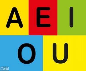 The vowels A, E, I, O, U puzzle