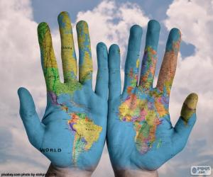 The world in our hands puzzle