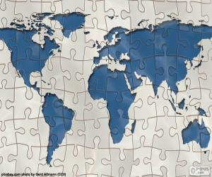 The world map puzzle puzzle