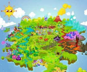 The world of Moshi Monsters puzzle