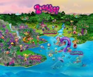 The world of the Zoobles puzzle