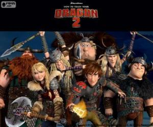 The young Vikings from How to Train Your Dragon 2 puzzle