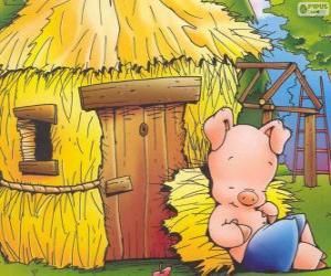 The younger brother ends first his house of straw puzzle