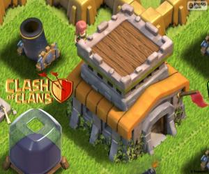 Three buildings of Clash of Clans puzzle