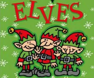 Three little elves of Santa Claus puzzle