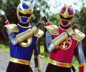 Thunder Ranger are a duo Crimson and Navy puzzle