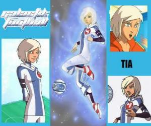 Tia is the player number 4 of the Snow Kids team, is the only team that initially has the spirit puzzle