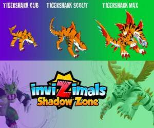 Tigershark Cub, Tigershark Scout, Tigershark Max. Invizimals Shadow Zone. Warriors of legend in India and Sri Lanka puzzle
