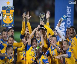 Tigres UANL, champion Mexico 2015 puzzle