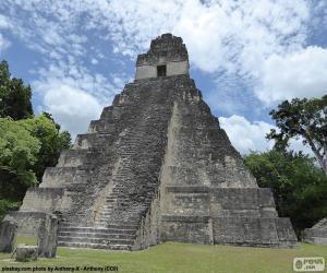 Tikal Temple I, Guatemala puzzle