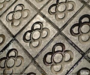 Tile, the Barcelona flower puzzle