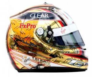 Timo Glock helmet 2010 puzzle