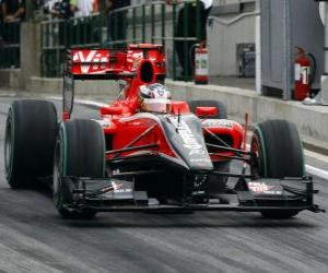 Timo Glock - Virgin - 2010 Hungarian Grand Prix puzzle