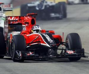 Timo Glock - Virgin - Singapore 2010 puzzle