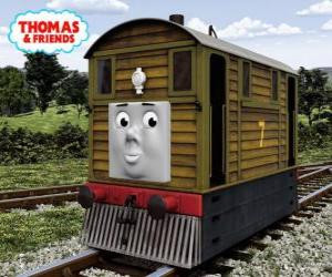 Toby is the No. 7 brown tram engine puzzle