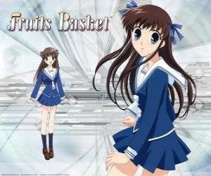 Tohru Honda is a high school student and the main character of Fruits Basket or Furuba puzzle