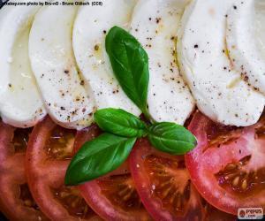 Tomato and mozzarella puzzle
