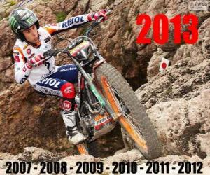 Toni Bou 2013 trial world champion puzzle
