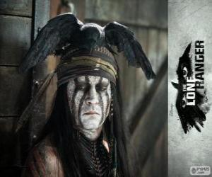 Tonto (Johnny Deep) in the film The Lone Ranger puzzle