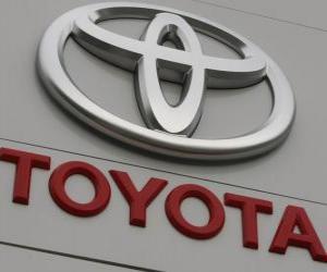 Toyota logo. Japanese automaker puzzle