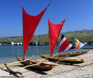 Traditional canoes, Pacific puzzle