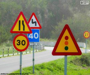 Traffic signs puzzle