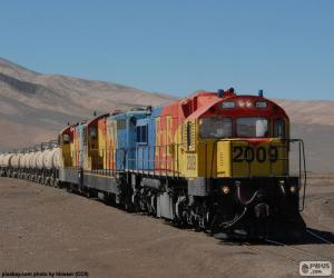 Train of freight, Chile puzzle