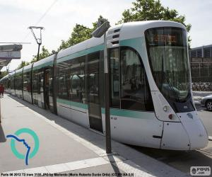 Tramway in Île-de-France (Paris) puzzle