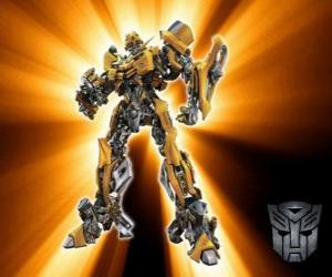 Transformers Bumblebee, is called - little brother - the Autobots puzzle