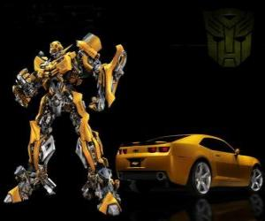 Transformers, the car and the robot in which it transforms puzzle