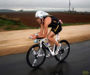 Triathlete in the cycling puzzle