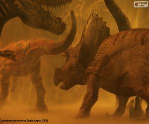 Triceratops and dinosaur puzzle