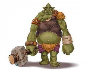 Troll giant armed with a club puzzle