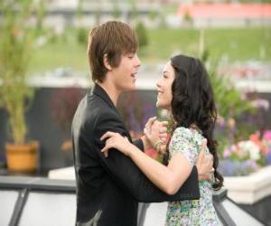 Troy Bolton (Zac Efron) dancing to Gabriella Montez (Vanessa Hudgens) puzzle