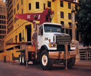 Truck crane puzzle