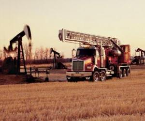 Truck oil exploitation puzzle