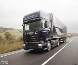 Truck Scania R 580 4×2 Streamline puzzle