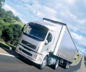 Truck Volvo VM is a medium truck puzzle