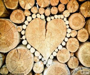 Trunk in shape of heart puzzle