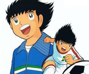 Tsubasa is training very hard to fulfill his dream puzzle
