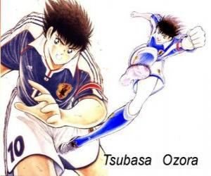 Tsubasa Ozora is Captain Tsubasa, the captain of the Japanese football team puzzle